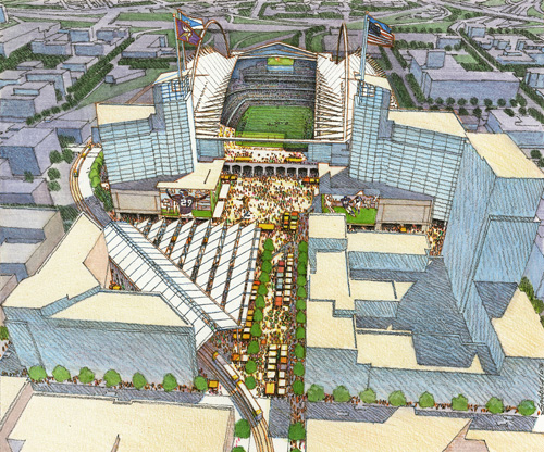 This is an artist's rendering of the $1 billion stadium Vikings ownership is seeking. But will it ever be built?