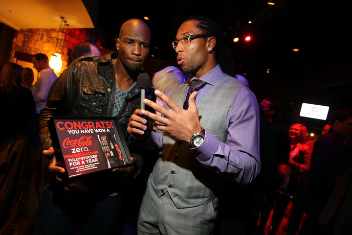 Coke Zero special correspondent Larry Fitzgerald interviewed Chad Ochocinco after his team won EA Sports Madden Bowl XVII Thursday night.